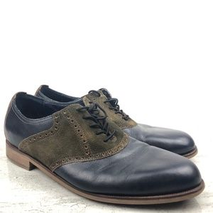 Cole Haan Blue Leather Oxfords
